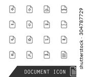file icons. | Shutterstock .eps vector #304787729