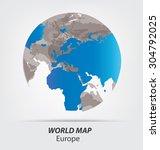 world map vector illustration | Shutterstock .eps vector #304792025