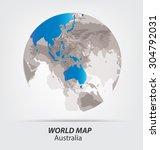 world map vector illustration | Shutterstock .eps vector #304792031