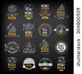 Pizza Menu Restaurant Badges....