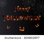 happy halloween illustration... | Shutterstock .eps vector #304802897