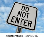 do not enter sign | Shutterstock . vector #3048046
