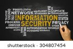 information security word cloud ... | Shutterstock . vector #304807454
