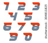 fast speed vector unusual... | Shutterstock .eps vector #304811825