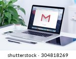 google gmail logo on the apple... | Shutterstock . vector #304818269