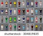 english football team kit... | Shutterstock .eps vector #304819835