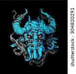 Blue Horned Devil Torso