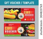 gift voucher template.vector...   Shutterstock .eps vector #304823765