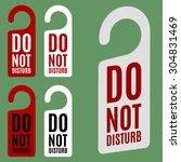 do not disturb door hanger in... | Shutterstock .eps vector #304831469