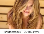 beautiful woman smiling | Shutterstock . vector #304831991