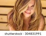 beautiful woman smiling | Shutterstock . vector #304831991