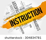 instruction word cloud ...   Shutterstock .eps vector #304834781