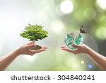 sustainable environment and... | Shutterstock . vector #304840241