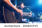 guitarist on stage for... | Shutterstock . vector #304841915