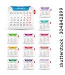 2016 calendar design   Shutterstock .eps vector #304842899