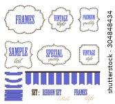 banners  ribbons and labels   Shutterstock .eps vector #304848434