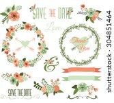 vintage wedding flower... | Shutterstock .eps vector #304851464