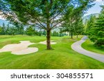 golf course with gorgeous green ... | Shutterstock . vector #304855571