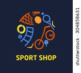 logo sport shop. sport... | Shutterstock . vector #304858631