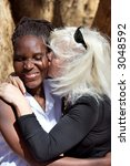 caucasian woman with african... | Shutterstock . vector #3048592