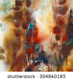 abstract painting on handmade... | Shutterstock . vector #304860185