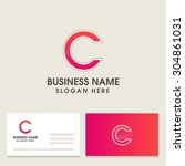 modern alphabetical logo and... | Shutterstock .eps vector #304861031