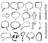 speech bubble  sketch... | Shutterstock .eps vector #304862705