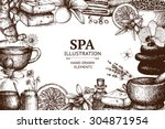vector design with  hand drawn...   Shutterstock .eps vector #304871954