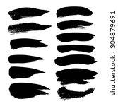 abstract black strokes set ... | Shutterstock .eps vector #304879691