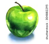 Green Apple  Isolated ...