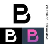 letter p and b logo template | Shutterstock .eps vector #304886465