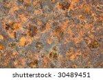 grunge metal old brown rusty... | Shutterstock . vector #30489451