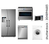 household electrical kit | Shutterstock .eps vector #304894685