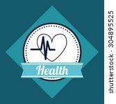 medical care digital design ... | Shutterstock .eps vector #304895525