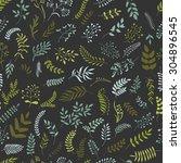 seamless vector floral pattern. ... | Shutterstock .eps vector #304896545