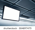 blank lcd screen display mock... | Shutterstock . vector #304897475