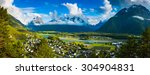 panoramic view on andalsnes... | Shutterstock . vector #304904831
