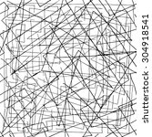 haotic background of lines | Shutterstock .eps vector #304918541