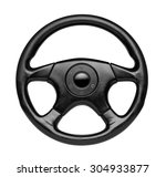 steering wheel  isolated on the ... | Shutterstock . vector #304933877