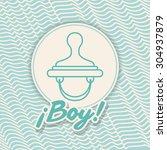 baby shower design  vector...   Shutterstock .eps vector #304937879