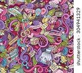 cartoon doodles hand drawn... | Shutterstock .eps vector #304941329