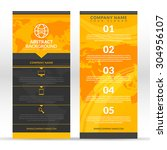 set of black flyers with a... | Shutterstock .eps vector #304956107