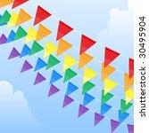 rainbow flags | Shutterstock .eps vector #30495904