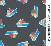 transportation ferry flat icon... | Shutterstock . vector #304963535