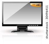 lcd panel  gray variant....   Shutterstock .eps vector #30496411