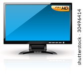 lcd panel  blue variant.... | Shutterstock .eps vector #30496414