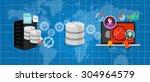 data integration database... | Shutterstock .eps vector #304964579