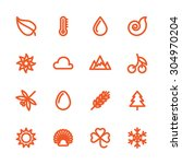 fat line icon set for web and... | Shutterstock .eps vector #304970204