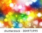 colorful bokeh background of... | Shutterstock . vector #304971995