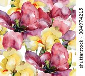 Floral Pattern. Watercolor...